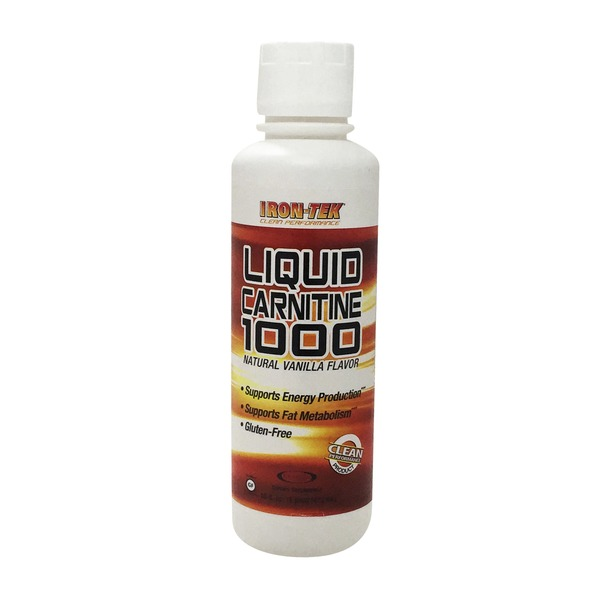 Iron-Tek Liquid Carnitine 1000 Natural Vanilla Flavor