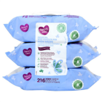 Parent's Choice Sensitive Baby Wipes, 3 packs of 72 (216 count)