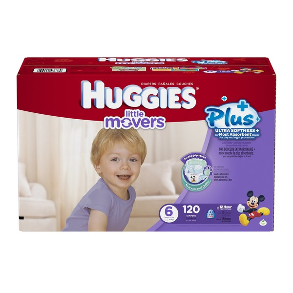 Huggies Little Movers Plus Size 6