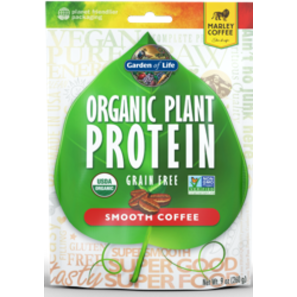 Garden of Life Organic Plant Protein Smooth Coffee
