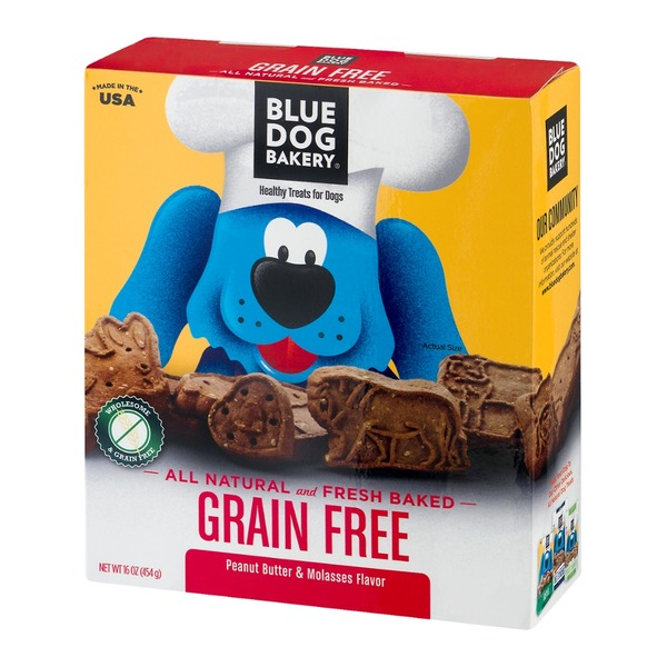 Blue Dog Bakery Healthy Treats For Dogs Grain Free Peanut Butter & Molasses