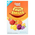 Great Value Fruit Smiles, Originals, 28.8 oz, 32 Count