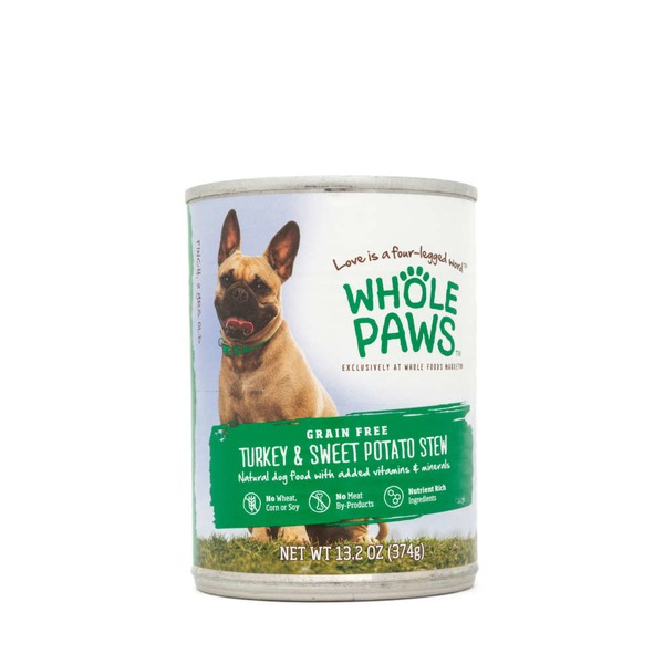 Whole Paws Grain Free Turkey & Sweet Potato Stew Dog Food