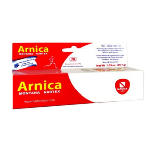 Arnica Montana Nartex Homeopathic Temporary Relief For Sore Muscles, Bruises, And Sprains
