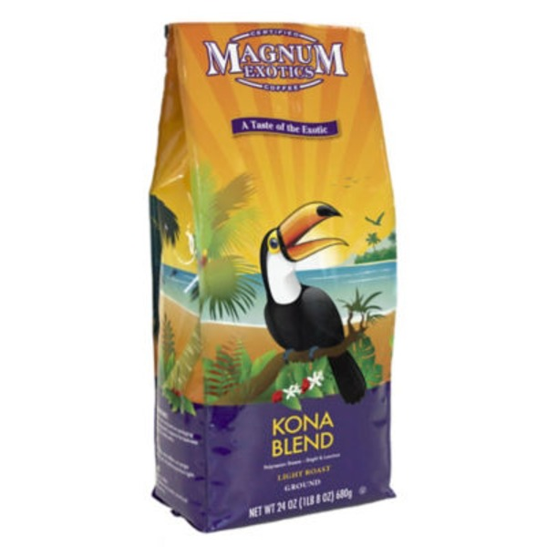 Magnum Exotics Medium Roast Ground Kona Blend Coffee