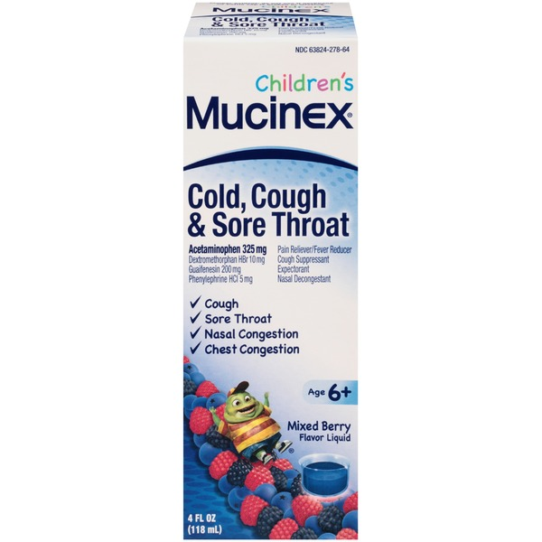 Mucinex Children's Cold, Cough & Sore Throat Multi-Symptom