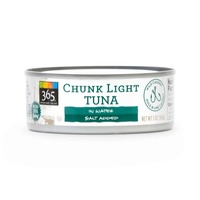 365 Chunk Light Tuna Salt Added