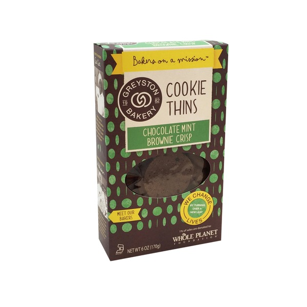 Greyston Bakery Chocolate Mint Brownie Crisps Cookie Thins