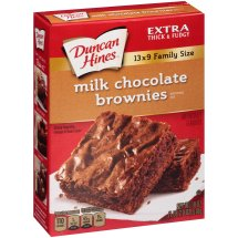 Duncan Hines Milk Chocolate Brownie Mix 13 x 9 Family Size, 18 oz
