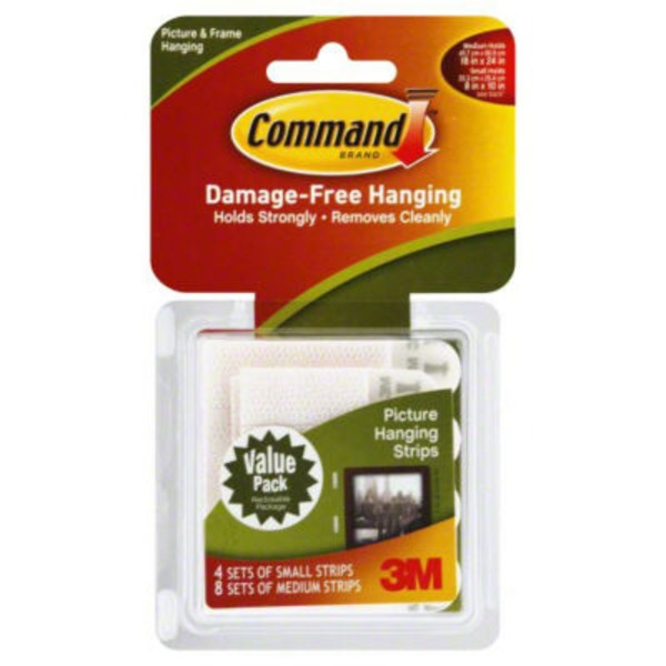 3M Command Small & Medium Strips