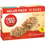 Fiber One Chewy Bar, Oats and Peanut Butter, 10 Fiber Bars, 14.1 oz (Value Pack), 1.4 OZ