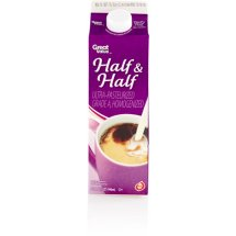 Great Value Half & Half, 1 qt