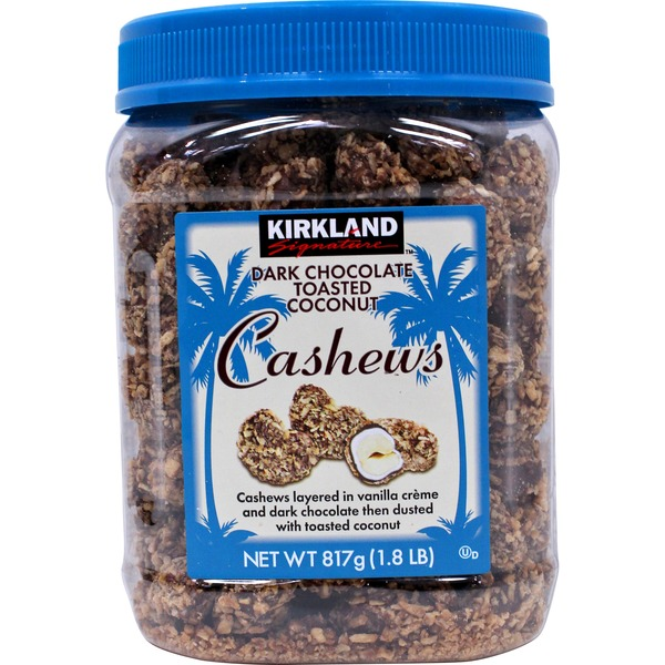 Kirkland Signature Dark Chocolate Toasted Coconut Cashews