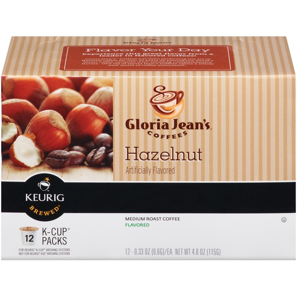 Gloria Jean's Coffee Hazelnut K-Cup Packs Coffee