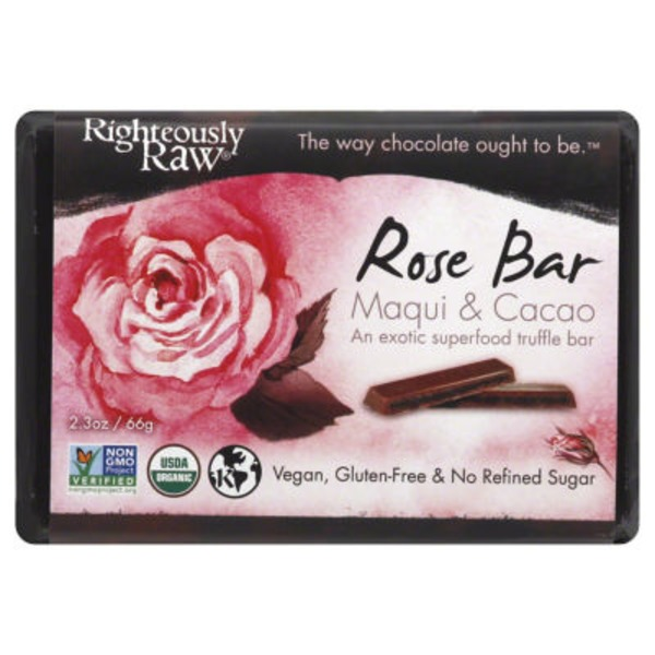 Righteously Raw Organic Rose Maqui & Cocao Bar