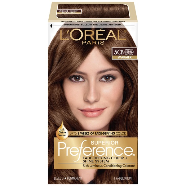 Superior Preference Warmer 5CB Medium Chestnut Brown Hair Color