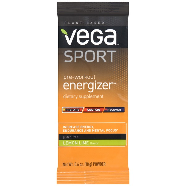 Vega Sport Pre-Workout Energizer Lemon Lime Dietary Supplement