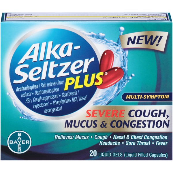 Alka-Seltzer Plus Severe Cough, Mucus & Congestion Liquid Gels Multi-Symptom Relief
