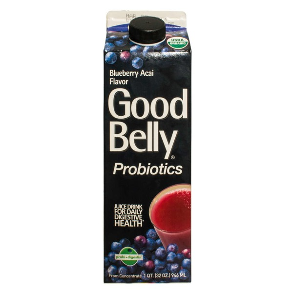 GoodBelly Probiotics Juice Drink Blueberry Acai Flavor