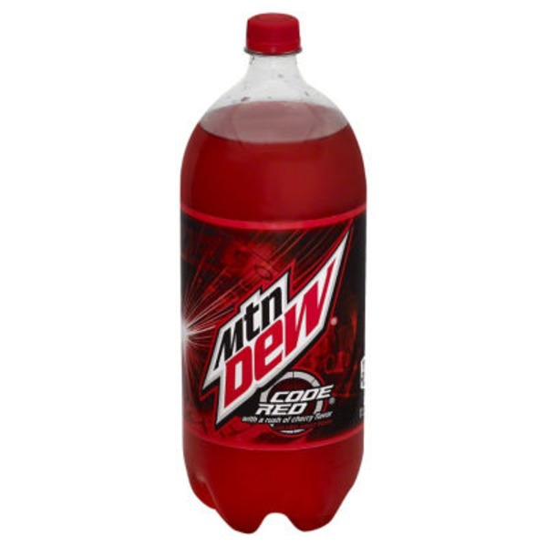 Mountain Dew Code Red with a Rush of Cherry Flavor Soda