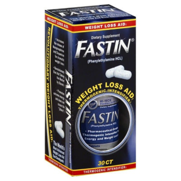 Fastin Weight Loss Aid, Thermogenic Intensifier, Tablets