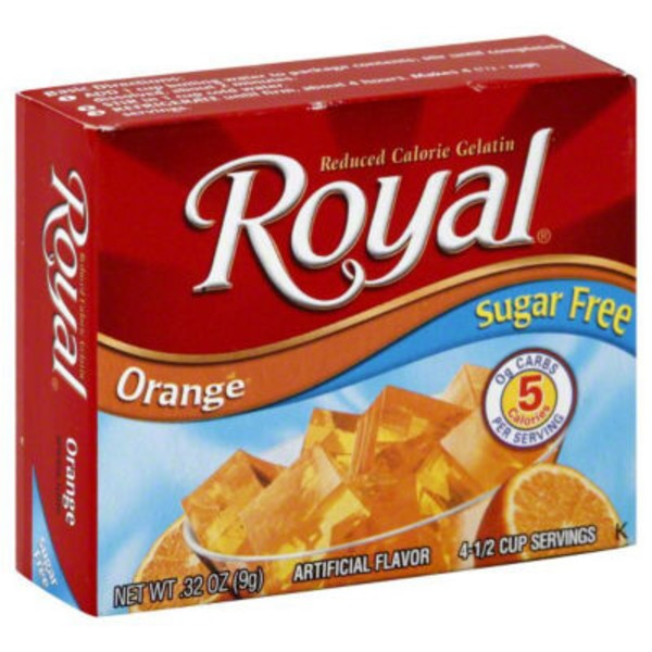 Royal Sugar Free Reduced Calorie Orange Gelatin