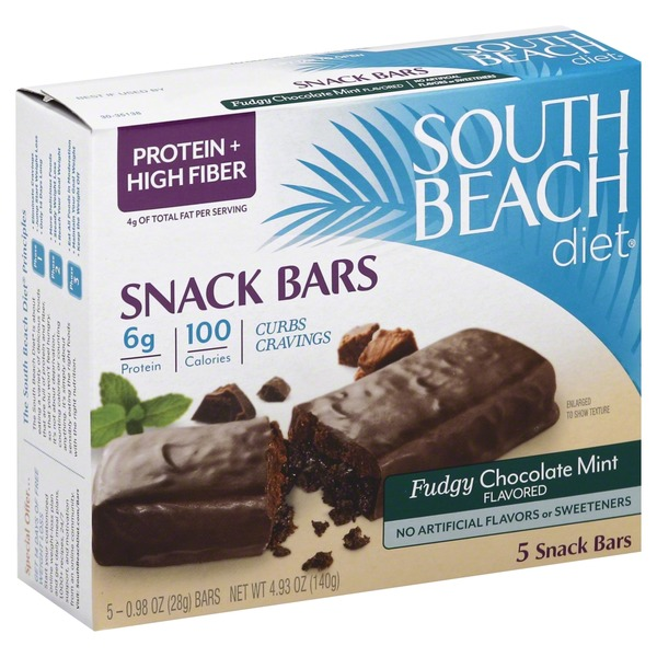 South Beach Diet Fudgy Chocolate Mint Flavored Snack Bars