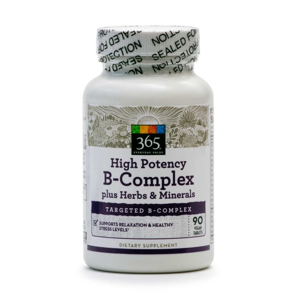 365 Vitamin B Complex Hi Potency Herbal Support Tablets