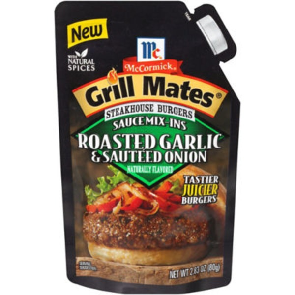 Mccormick Grill Mates Steakhouse Burgers Sauce Mix-Ins Roasted Garlic & Sauteed Onion Seasoning Mix