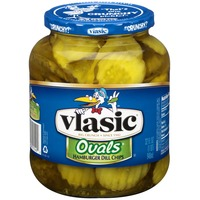 Vlasic Ovals Hamburger Dill Chips Pickles