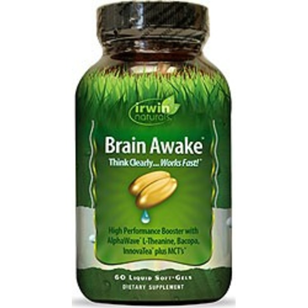 Irwin Naturals Brain Awake Liquid Soft-Gels Dietary Supplement