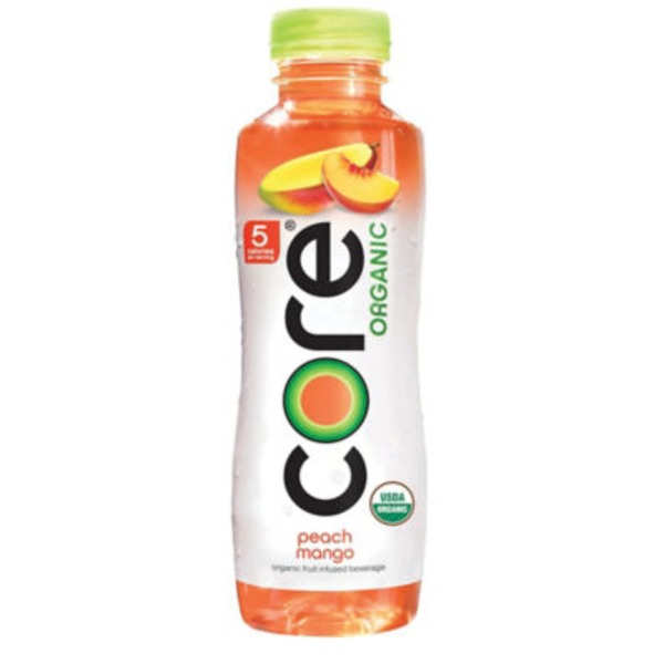 Core Organic Peach Mango Organic Fruit Infused Beverage