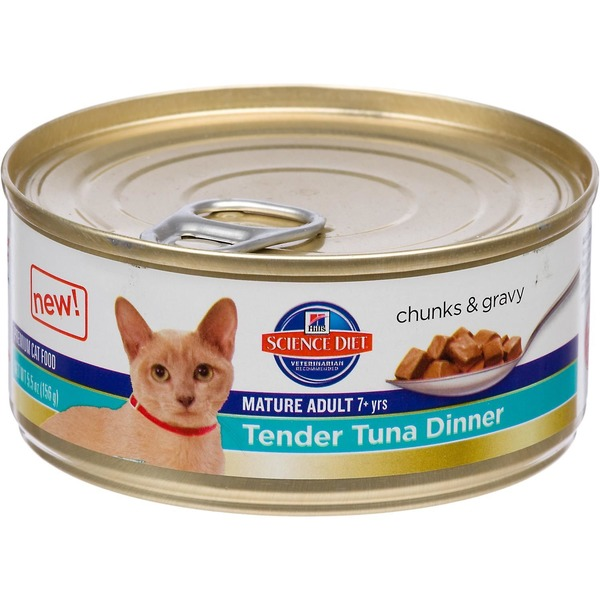 Hill's Science Diet Cat Food, Premium, Mature Adult, Tender Tuna Dinner