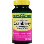 Spring Valley Cranberry Extract Capsules, 15000 mg, 60 Ct