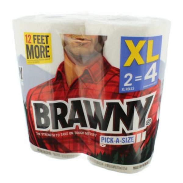 Brawny XL Pick A Size White Paper Towels