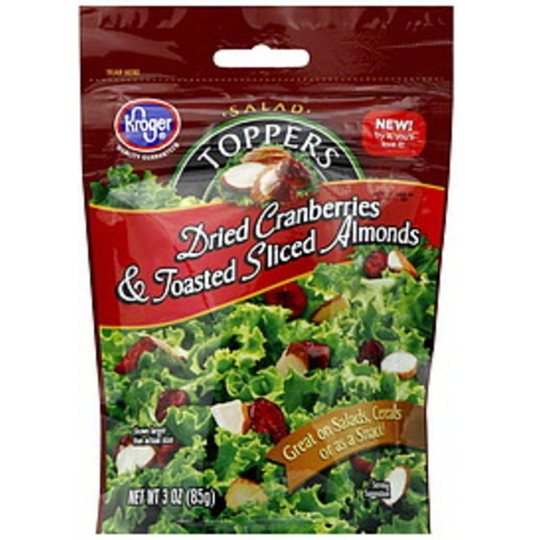 Kroger Toppers Dried Cranberries & Toasted Sliced Almonds