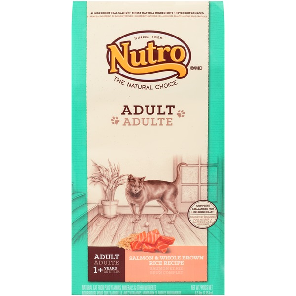 Nutro Adult Salmon & Whole Brown Rice Recipe Dry Cat Food