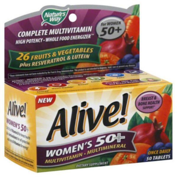 Nature's Way Alive! Women's 50+ Complete Multi-Vitamin Women - 50 CT