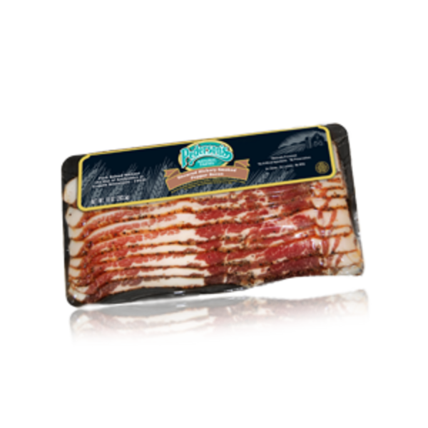 Pederson's Natural Farms Uncured Hickory Smoked Pepper Bacon