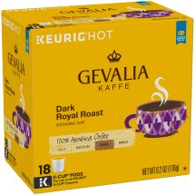 Gevalia Dark Royal Roast Coffee K-Cup® Pods 18 ct Box