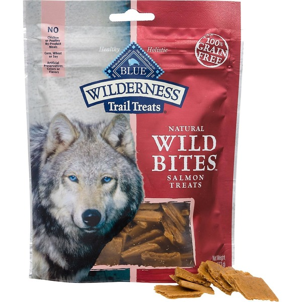 Blue Buffalo Wild Bites Salmon Recipe Dog Treats Salmon Dog Trail Treats