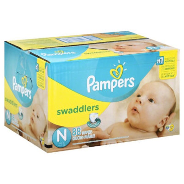 Pampers Swadlers Pampers Swaddlers Newborn Diapers Size 0 88 count Diapers