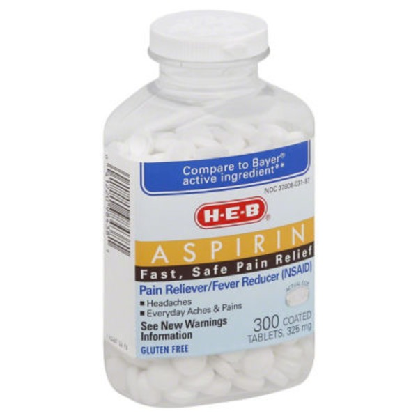 H-E-B Aspirin 300 Coated Tablets 325 Mg