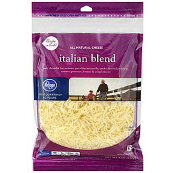 Kroger Italian Blend Shredded Cheese