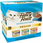 (30 Pack) Fancy Feast Gravy Wet Cat Food Variety Pack Seafood Grilled Collection 3 oz. Cans