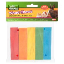 Wild Harvest Colored Fruit Flavored Wood Chews for Small Animals