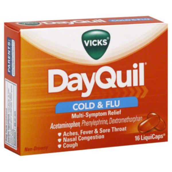 Vicks DayQuil Cold & Flu Multi-Symptom Relief LiquiCaps 16 ct Respiratory Care