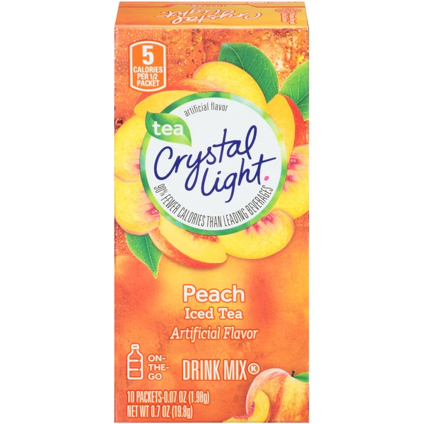 Crystal Light On-the-Go Peach Iced Tea Drink Mix