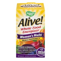 Nature's Way Alive! Whole Food Energizer Women's Multi Max Potency - 90 CT