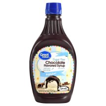 Great Value Chocolate Flavored Syrup, Sugar Free, 18.5 oz